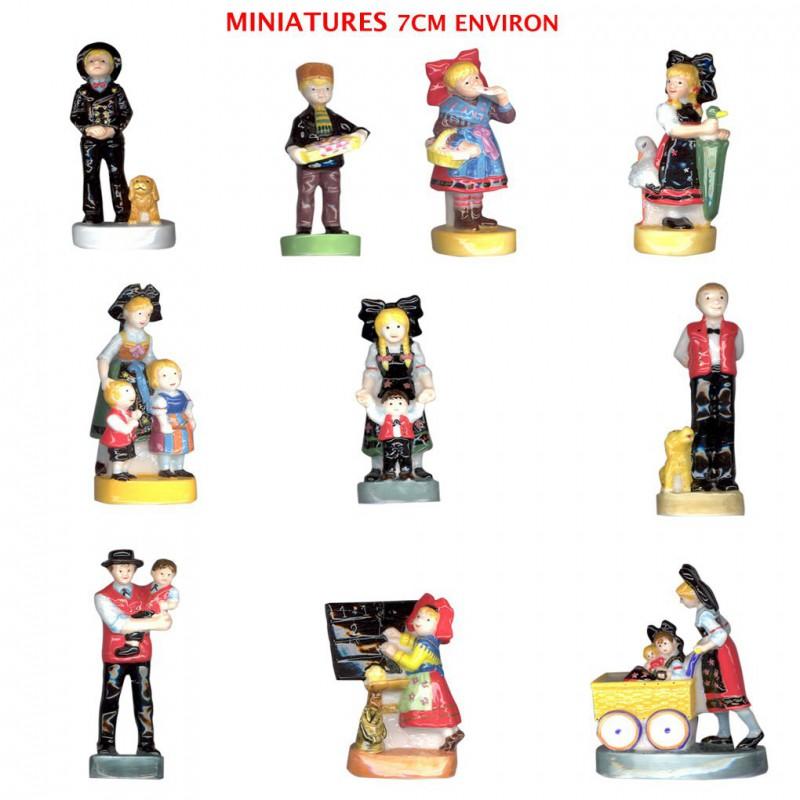 Miniatures Ratkoff - Série complète de 10 fèves briillantes