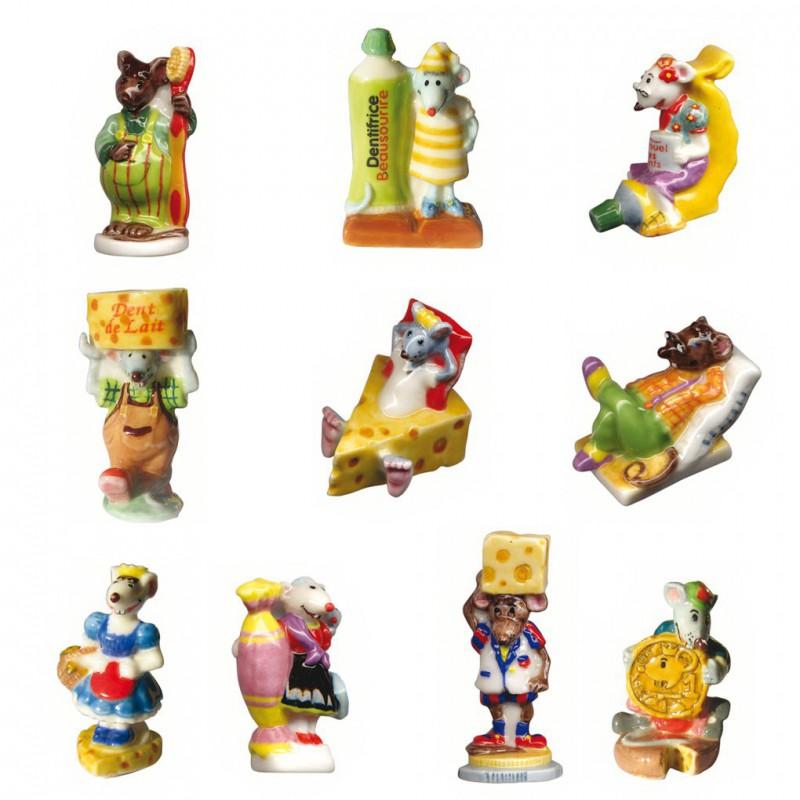 La petite souris - Série complète de 10 fèves briillantes - Année 2005