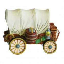 Chariot - Grand modèle en porcelaine mate peinte à la main