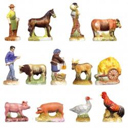 Les foires d'antan - Série complète de 13 fèves Mates - Année 2006