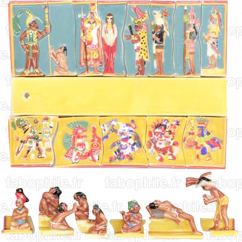 La civilisation du Soleil - Série complète de 20 fèves Brillantes - Puzzle Année 2008