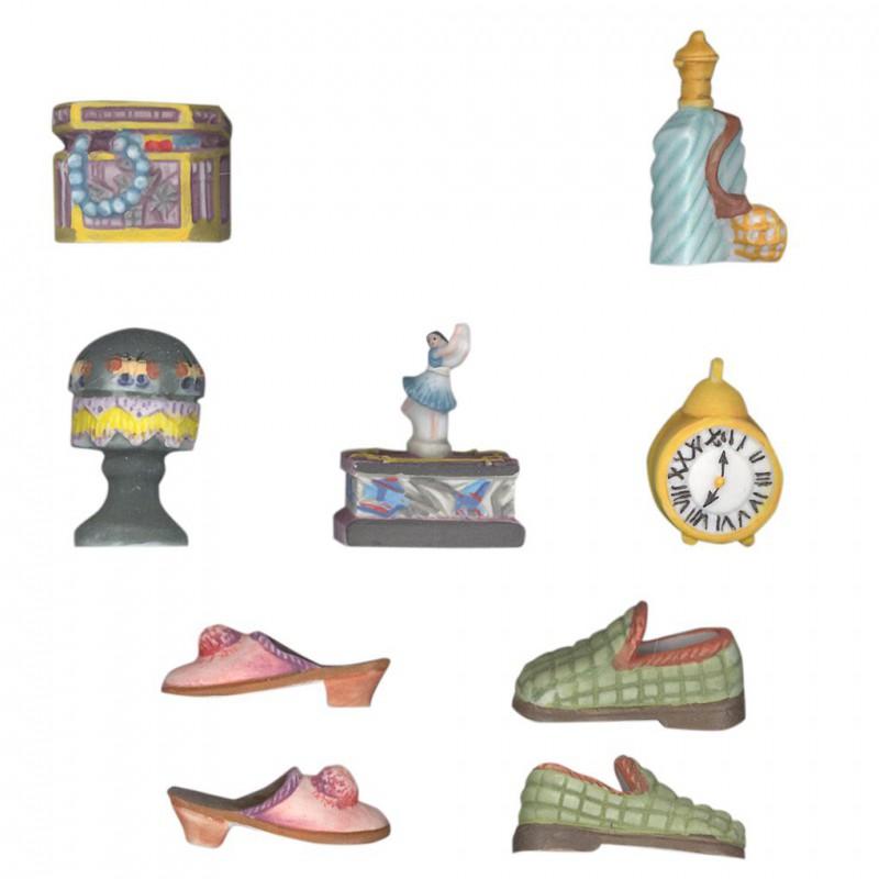 La chambre mate - Série complète de 9 fèves Mates - Année 2003