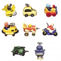 Les motorisés fous - Série complète de 8 fèves brillantes - Année 2007