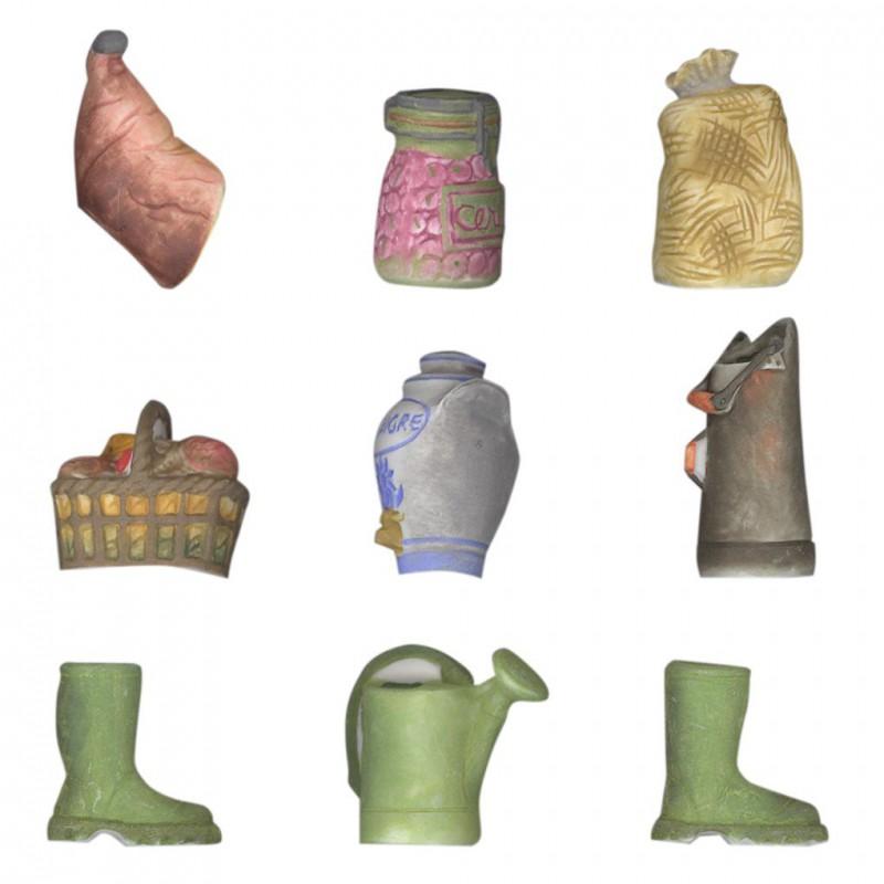Le cellier - Série complète de 9 fèves Mates - Année 2003