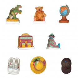 La chambre des enfants - Série complète de 8 fèves Mates - Année 2004