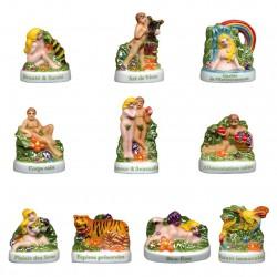 Le paradis retrouvé - Série complète de 10 fèves Brillantes - Année 2011
