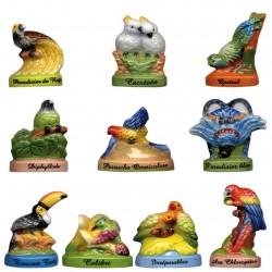Les oiseaux du paradis - Série complète de 10 fèves Brillantes - Année 2011
