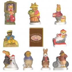 Fox Wood Tales - Série complète de 10 fèves Mates - Année 2008