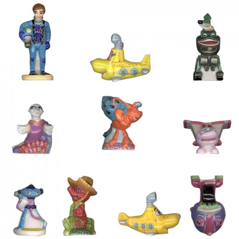 Olly Plouf - Série complète de 10 fèves brillantes - Année 2009