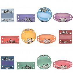Bracelets prénoms - Série complète de 12 fèves mates - Année 2009