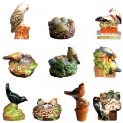 Nids douillets - Série complète de 10 fèves brillantes - Année 2010