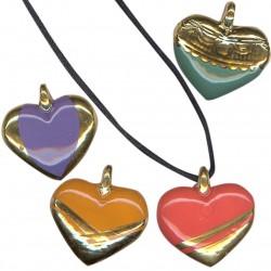 Série de quatre cœurs or/brillants accompagnés de quatre lacets
