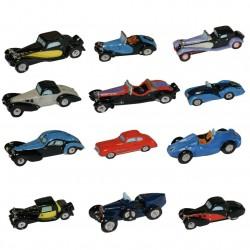 Bugatti les voitures mythiques - Série complète de 13 fèves or, platines, brillantes - Année 2012