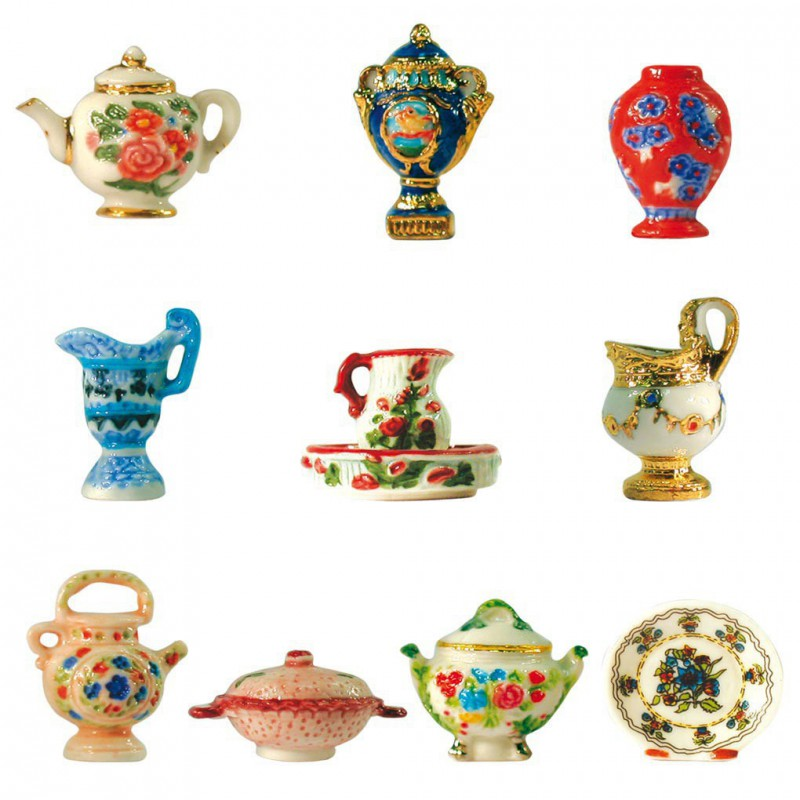 Série complète de 10 fèves - Céramiques royales - Année 2001