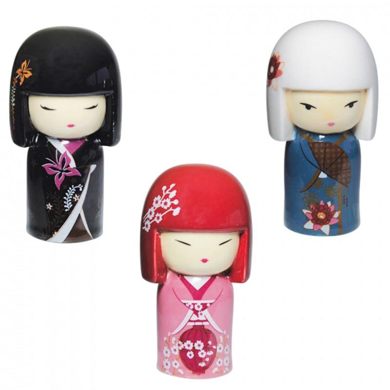 Découvrez les trois charmantes miniatures de Kimidoll en porcelaine peinte à la main