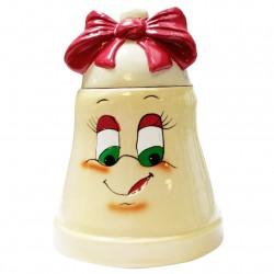 La cloche des malicieux - en porcelaine brillante pour offrir bonbons et chocolats