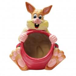 Le lapin malicieux en porcelaine brillantes pour offrir des bonbons ou des chocolats