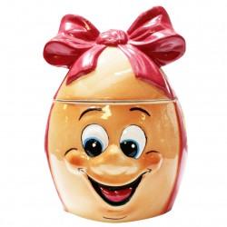 L'œuf des malicieux - Porcelaine brillante peinte à la main