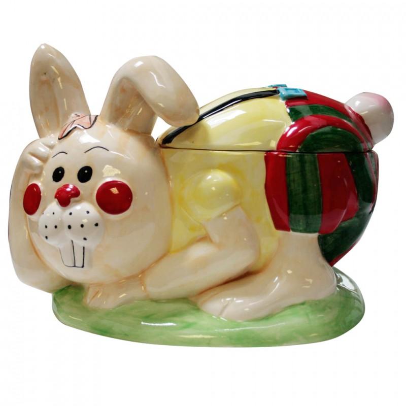 Lapin des Titous - Jeannot lapin en porcelaine brillante peinte à la main