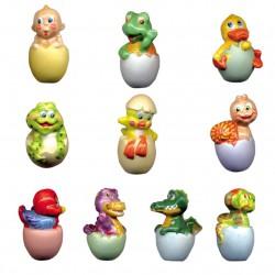 T'as de beaux œufs - Série complète de 10 fèves brillantes - Année 2009