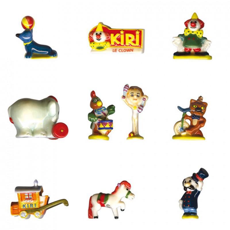 Kiri le Clown - Série complète de 10 fèves brillantes - Année 2006