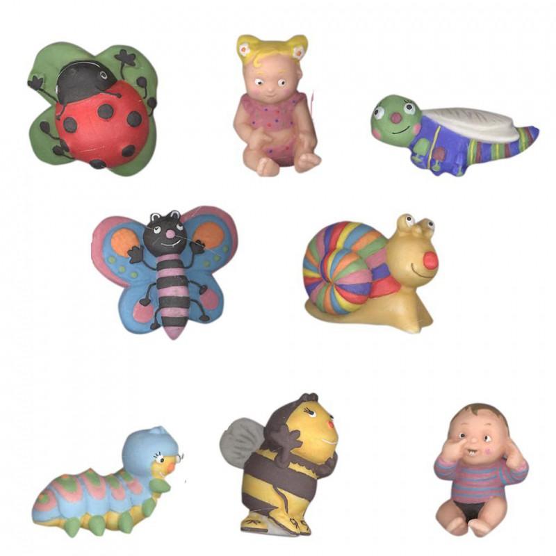 Petits amis du jardin - Série complète de 8 fèves mates - Année 2011
