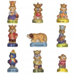 Copains lapin - Série complète de 9 fèves brillantes - Année 2004