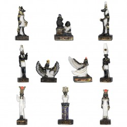 Mythologie Égyptienne or - Série complète de 10 fèves or, brillantes - Année 2008