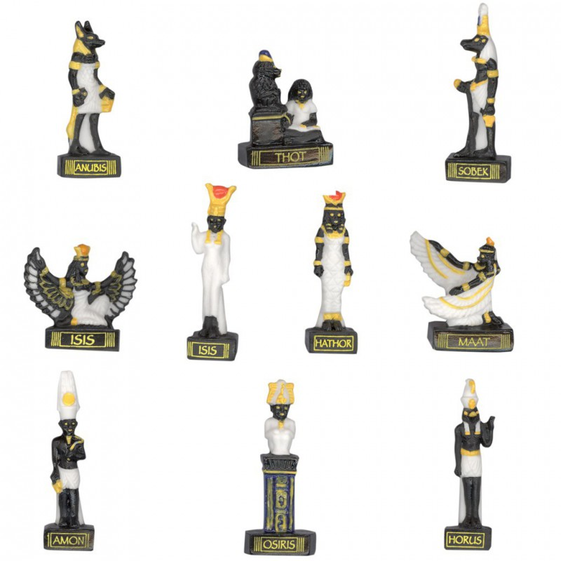 Mythologie Égyptienne - Série complète de 10 fèves mates - Année 2008