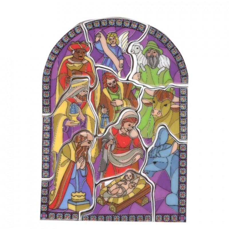 Puzzle vitrail - Série complète de 10 fèves brillantes - Année 2006