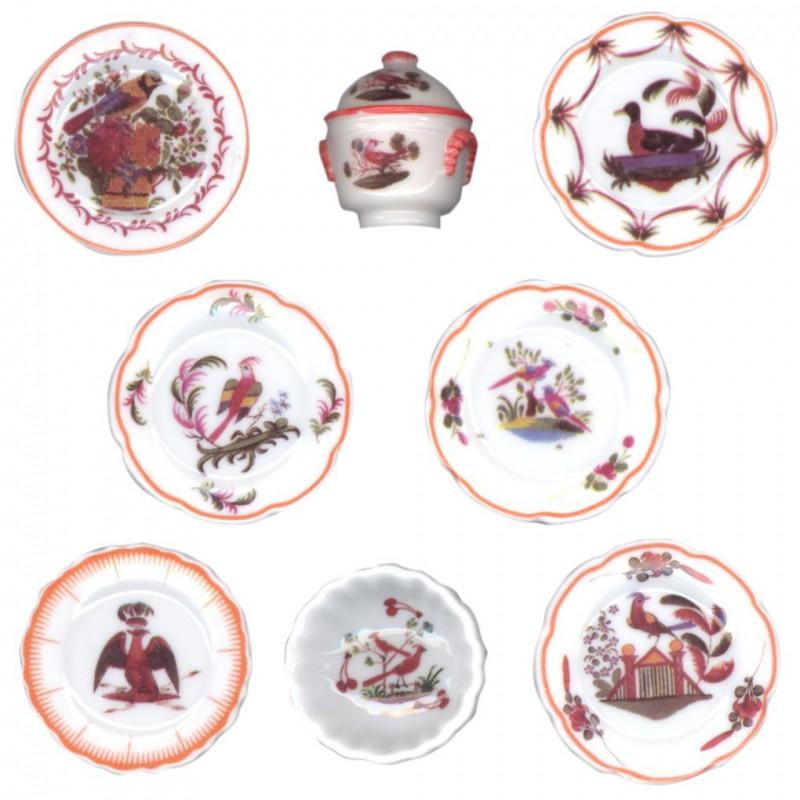 Faïences les Islettes - Série complète de 8 fèves brillantes - Année 2008