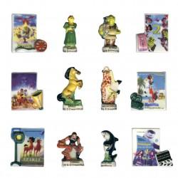 Compilation Dreamworks - Série complète de 12 fèves brillantes - Année 2006