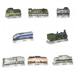 Epopée ferroviaire - Série complète de 8 fèves brillantes - Année 2006