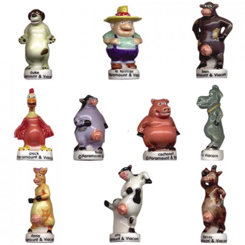 Barnyard - Série complète de 10 fèves brillantes - Année 2007
