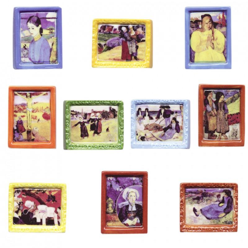 La Bretagne de Gauguin - Série complète de 10 fèves brillantes - Année 2006