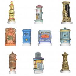 Poêles anciens - Série complète de 10 fèves or, brillantes - Année 2005