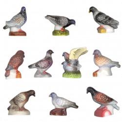 Le pigeonnier - Série complète de 10 fèves brillantes - Année 2008