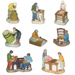 Les artisans d'antan - Série complète de 10 fèves mates - Année 2007