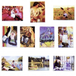Les années impressionnistes - Série complète de 10 fèves brillantes - Année 2009