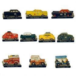 Hep taxi - Série complète de 10 fèves brillantes - Année 2012