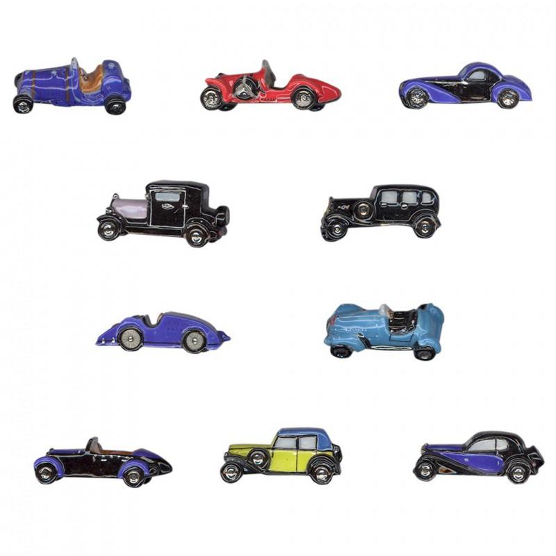 Bugatti la légende - Série complète de 10 fèves platines/brillantes - Année 2012