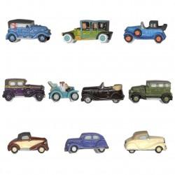 Renault de légende - Série complète de 10 fèves platines/brillantes - Année 2011