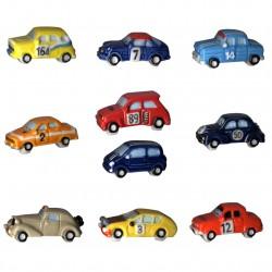 Renault rallye - Série complète de 10 fèves brillantes - Année 2011