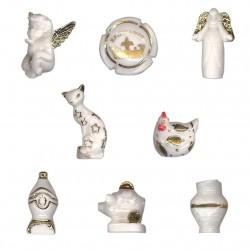 De blanc et d'or - Série complète de 8 fèves or, brillantes - Année 2011