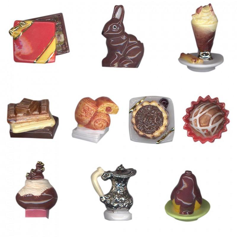 C comme chocolat - Série complète de 10 fèves or/platine/brillantes - Année 2009