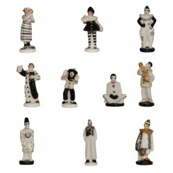 Le clown - Série complète de 10 fèves or/platine/brillantes - Année 2011