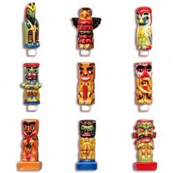 Les totems - Série complète de 9 fèves brillantes - Année 2004