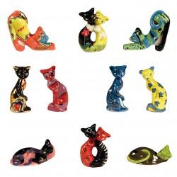 Chats design - Série complète de 10 fèves or/brillantes - Année 2011