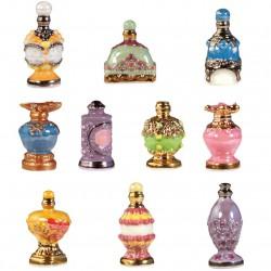 Parfums de luxe - Série complète de 10 fèves or/brillantes - Année 2010