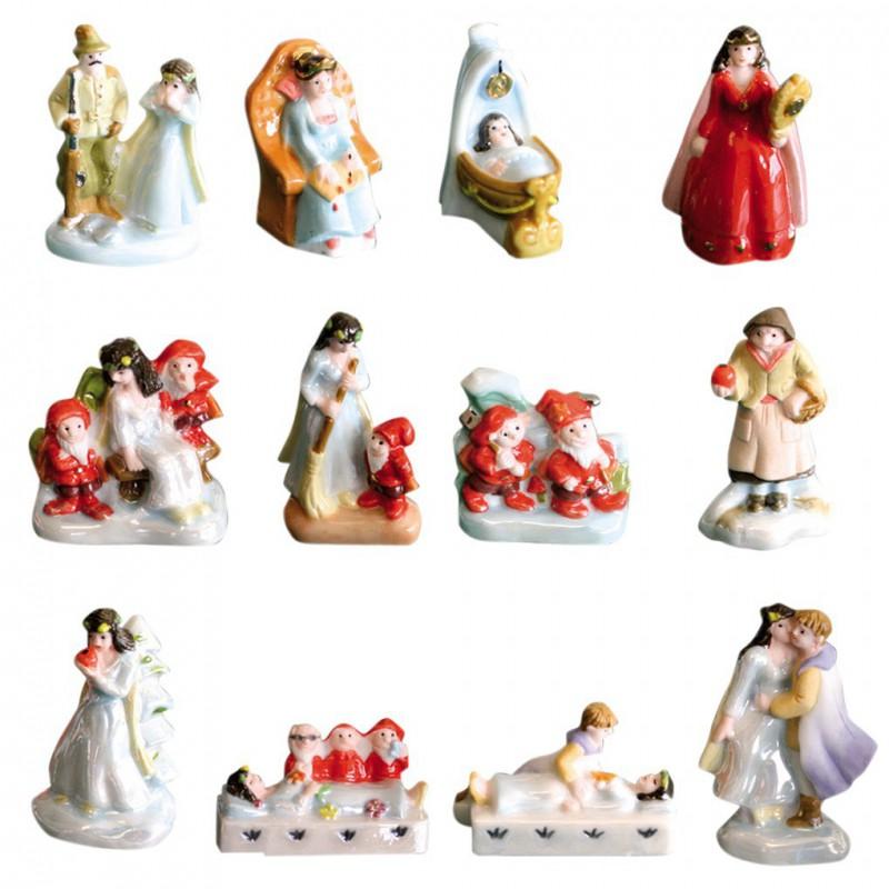 Blanche neige comme - Série complète de 12 fèves brillantes, nacrées - Année 2009